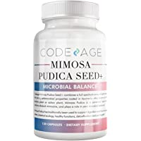 Codeage Organic Mimosa Pudica Seed Capsules - Mimosa Pudica Seeds Supplement - Black Walnut, Cloves, Vidanga, Neem, BioPerine - All in One - Sensitive Plant Pills - Non-GMO & Vegan - 120 Capsules