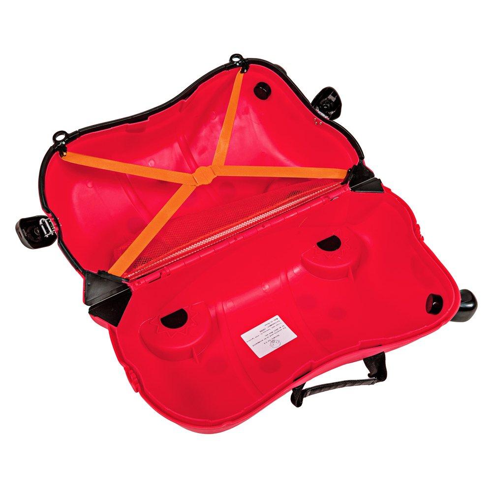 TecTake Maleta de viaje con ruedas para niños coche infantil caja de juguettes rojo: Amazon.es: Hogar
