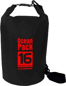 Karana Ocean Pack impermeable bolsa seca 16 litros (112141916), Negro Color 1 pcs.: Amazon.es: Deportes y aire libre