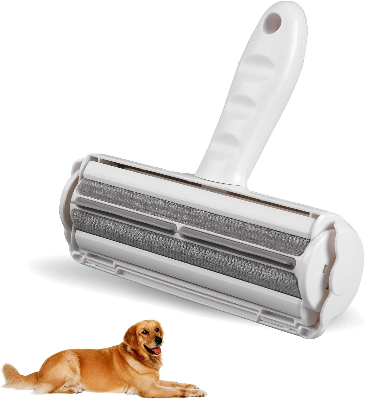 Loongty Upgrade Pet Hair Remover Roller, Lint Remover Roller, Dog & Cat Fur Remover from Furniture and Clothing - Efficient Animal Hair Remover Tool, Washable.