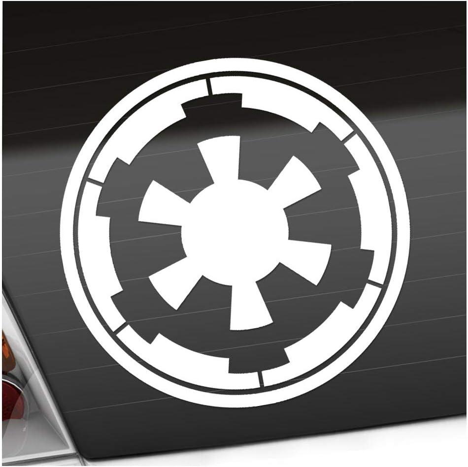 Galaktisches Imperium 10 X 10 Cm In 15 Farben Neon Chrom Sticker Aufkleber Auto