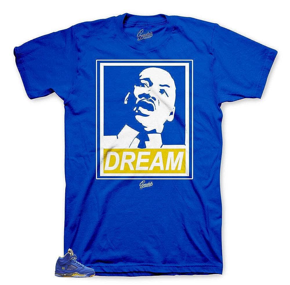 a964bb164a9938 Tee Shirt Match Jordan 5 Laney Varsity Royal - Dream BHM Sneaker Tee ...