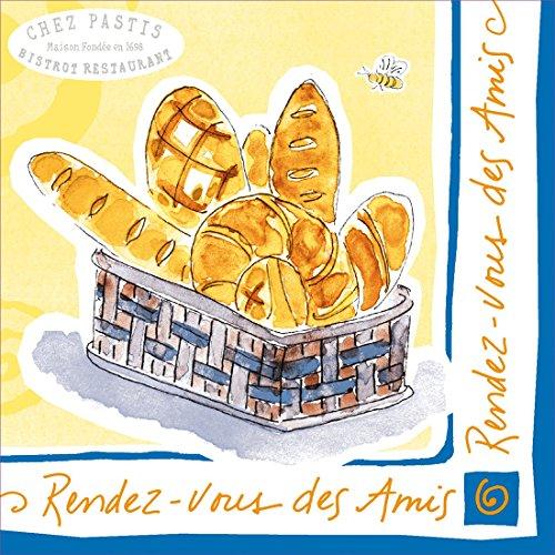 Ideal Home Range 20-Count Jill Butler Paper Cocktail Napkins, Rendez Vous Bread (Wine Butler Grape)