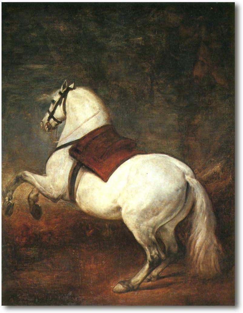 Cuadro Decoratt: Caballo blanco - Diego Velazquez 48x62cm. Cuadro de impresión directa.