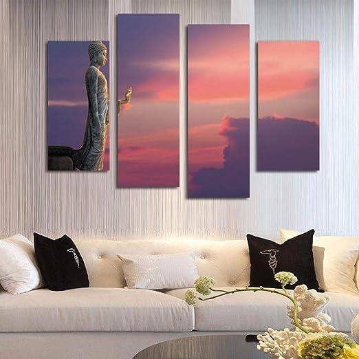 SunSnow Cuadro Pintura Mural Arte para la Vida Violeta Media ...