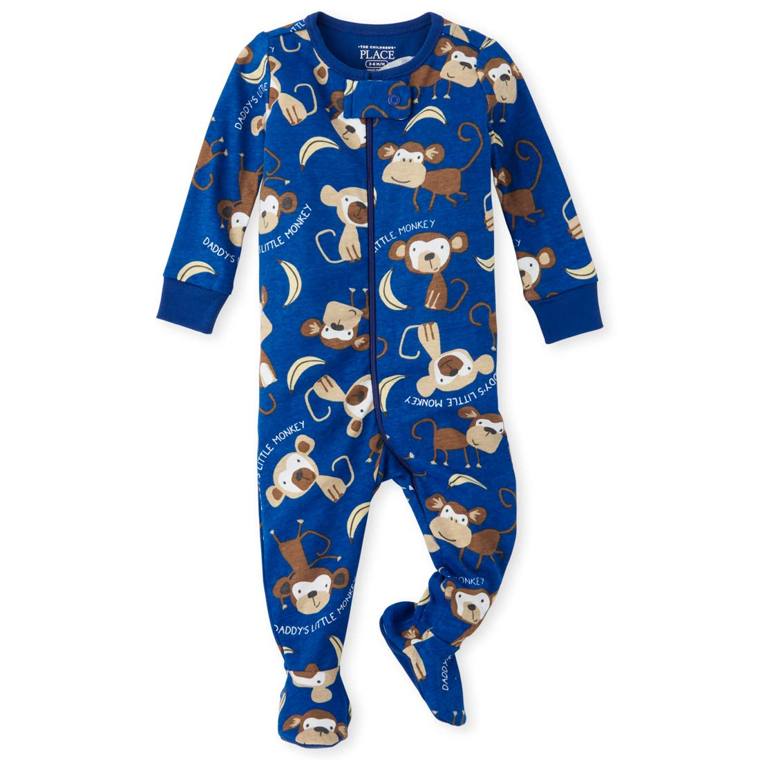 The Children's Place Baby Boys Printed Blanket Sleeper, Edge Blue, 5T by The Children's Place