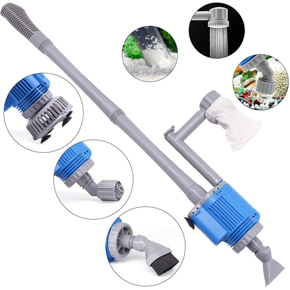 KayJery Automatic Aquarium Gravel Cleaner, Electric Fish Tank Cleaner Sludge Extractor, Mute, for Large and Small Fish Tank by KayJery