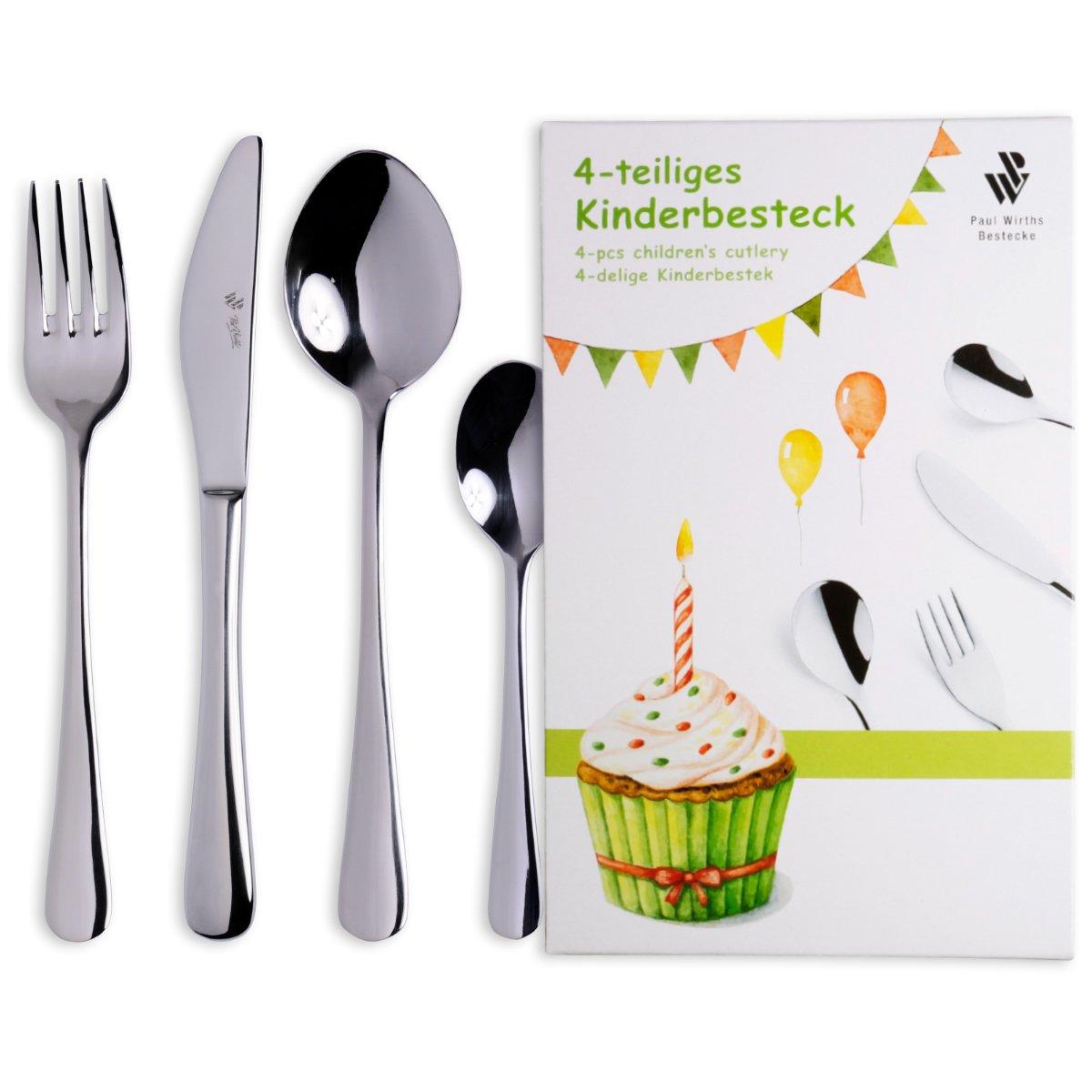 Kids 4 teilig inkl Gravur KB023 Paul Wirths Bestecke Kinderbesteck