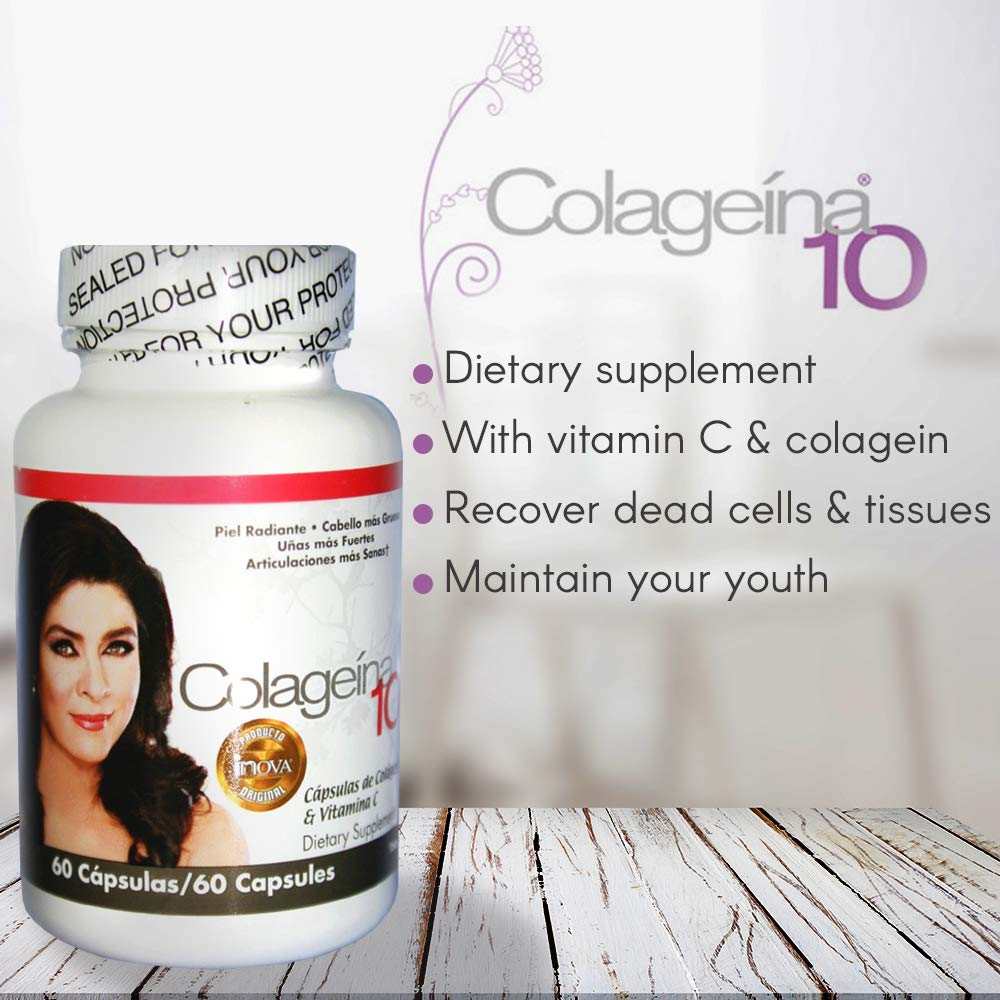 Amazon.com : Colageina 10 60 Capsules : Collagen Mineral Supplements : Beauty