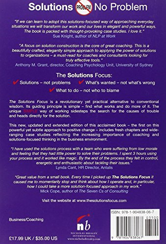 the solutions focus making coaching and change simple english edition