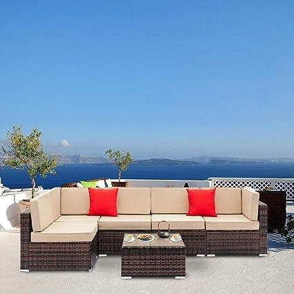 Amazon.com: Alfresco - Juego de 6 sillas reclinables ...