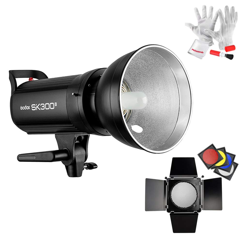Godox SK300II Studio Strobe 300Ws GN65 5600K Bowens Mount Monolight, Built-in Godox 2.4G Wireless System, 150W Modeling Lamp, Outstanding Output Stability, Anti-Preflash, 1/16-1/1 40 Steps Output by Godox