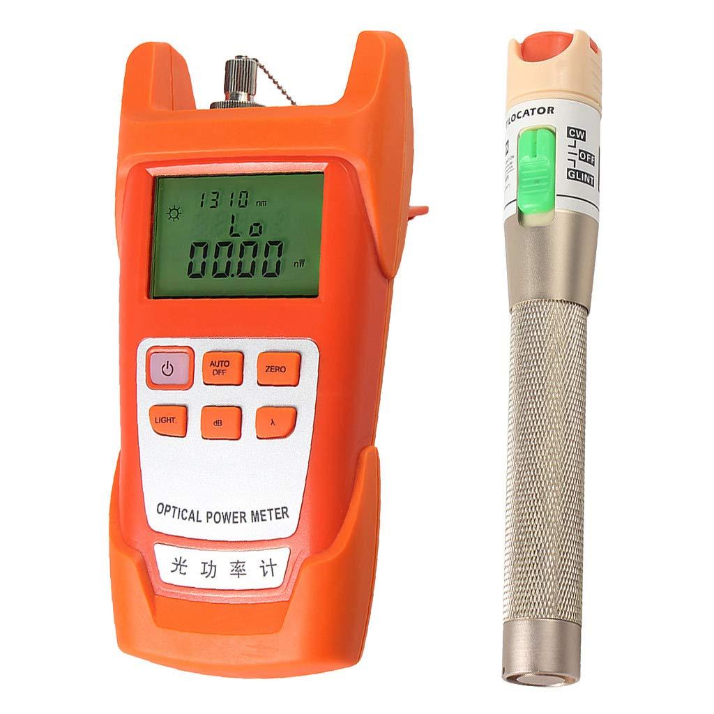 SM SunniMix AUA-9C -70dBm~+10dBm 850~1625nm Optical Power Meter Tester FC SC Handheld Optical Power Meter + with 30mW Visual Fault Locator Pen