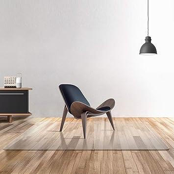 Tapete para silla de PC transparente 100% puro para suelos duros, protector de piso