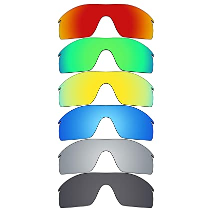 de587a2815 Image Unavailable. Image not available for. Color  Mryok 6 Pair Polarized  Replacement Lenses for Oakley Radarlock XL Sunglass - Stealth Black Fire