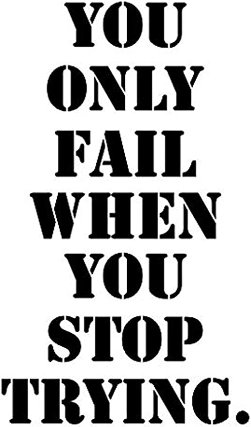 Wall Stickers Fail Stop Trying Motivation Gym Office Fitnes Art Decal Vinyl Room