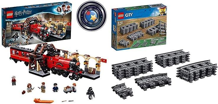 LEGO Harry Potter - Hogwarts Express, Tren de Juguete y Andén 9 y 3/4 (75955) + City Carriles (60205), Juguetes Infantiles - Juego de Construcción ...