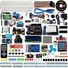 Smraza UNO R3 Kit for Arduino Project,Complete Starter kit with Tutorial,Includes Motors,Sensors and LCDs(67 Items )