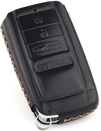 NOT Fit ENGINE HOLD FOB Black Leather Cover Key Fob Case Protector Jacket Remote Holder Bag Skin Glove For ACURA MDX RDX TL TLX IL TSX ZD ZDX Smart Key 4 Buttons