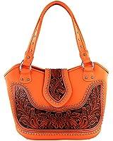 Montana West Ladies Concealed Gun Handbag Tooled Genuine Leather