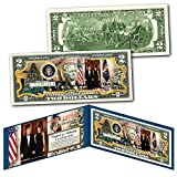 Donald & Melania Trump WHITE HOUSE Presidential MERRY CHRISTMAS Genuine $2 Bill