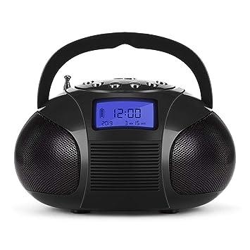 YWSZY Radio Reloj Portátil con Altavoz Bluetooth, Sistema Estéreo ...