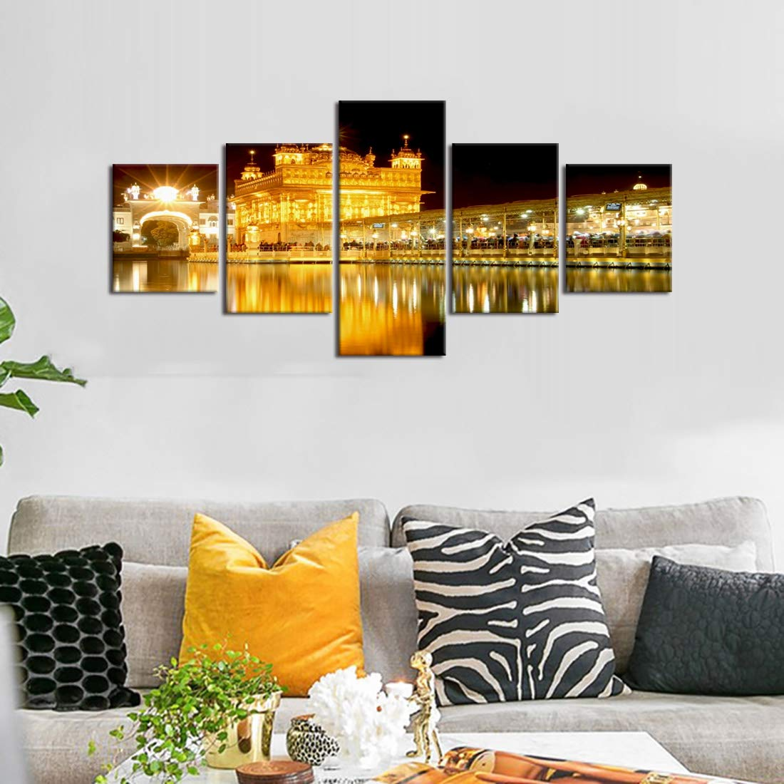 Amritsar golden temple canvas painting for living room large sikh canvas wall art pictures of the golden temple at amritsar modern office home wall