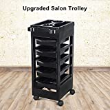 Storage Cart Drawers, BETEZU Rolling Cart Organizer Salon Cart with Tool Holder Extra Drawers Omni Directional Wheels for Home Beauty Salon