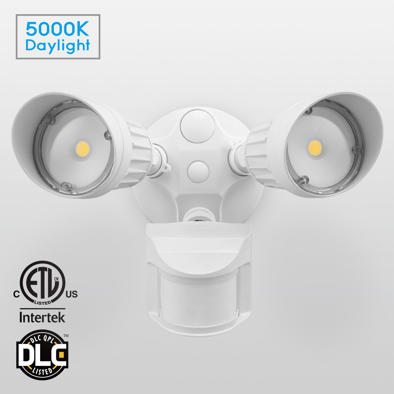 20W Dual-Head Motion Sensor LED Outdoor Flood Security Light ...