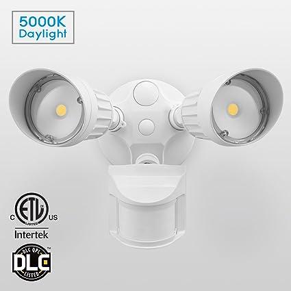 20w dual head motion sensor led outdoor flood security light