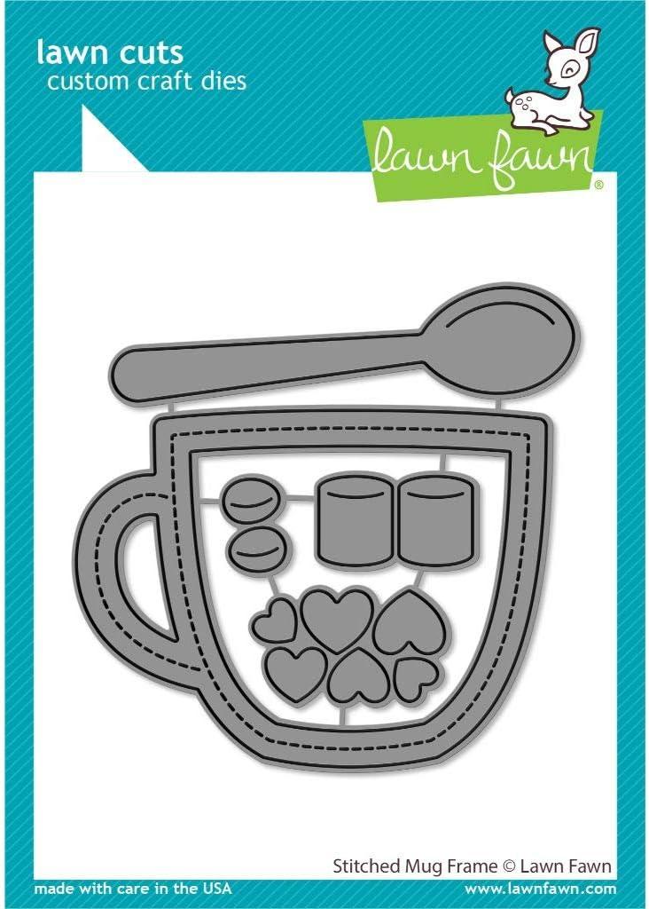 Lawn Fawn LF2445 Stitched Mug Frame Custom Craft Dies