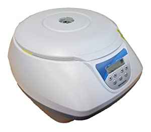 Digital Bench-top Centrifuge, 100-4000rpm, 8x15ml Rotor with Adapters for 7 ml and 5 ml Tubes