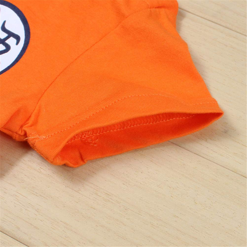 YEMOCILE Dragon Ball Z Design Baby Boys Girls Romper Cosplay Costume Goku-Inspired Infant Outfit Jumpsuit Clothes