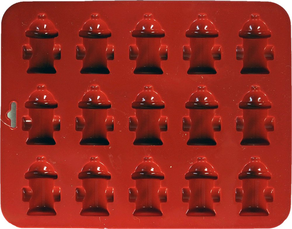 K9 Cakery Mini Fire Hydrants Silicone Cake Pan with 15 Cavity, 8.5-Inch x 6.75-Inch
