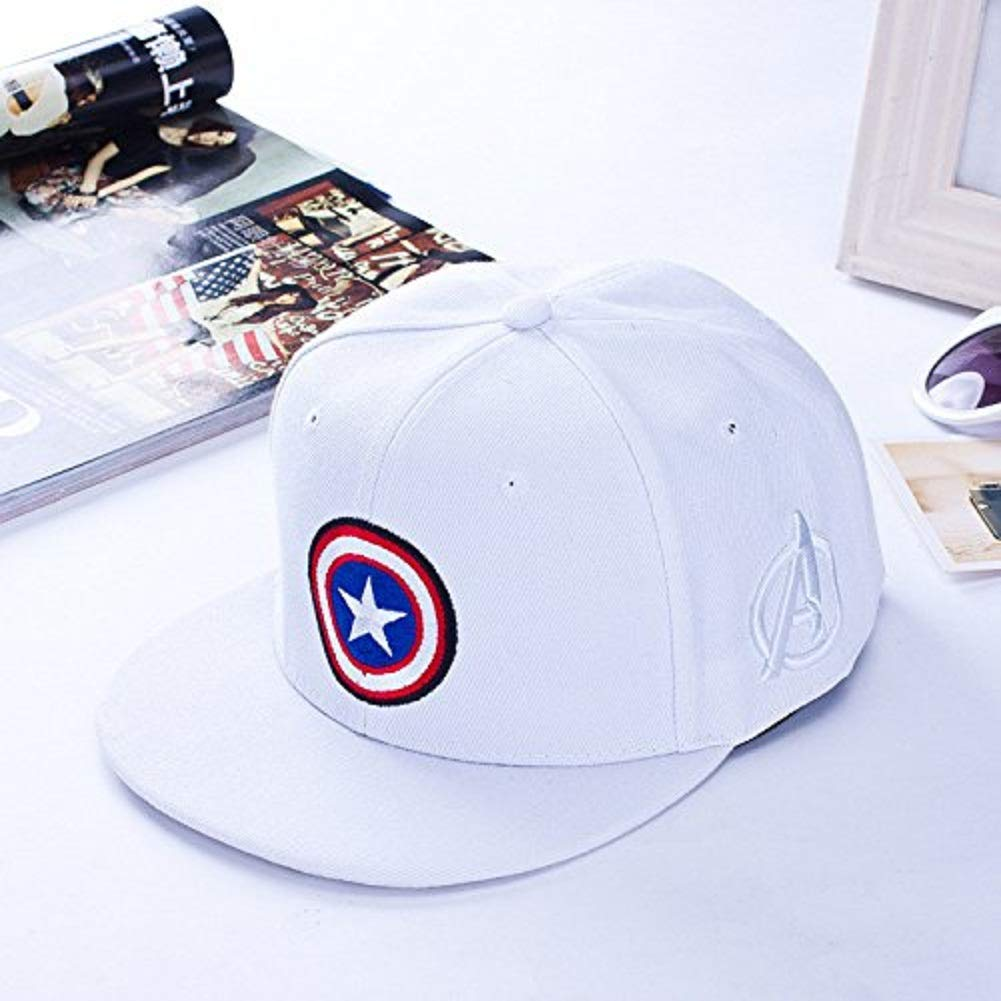 Buy Others Captain America Superhero Baseball Sports Gorras Snapback  Polyester Unisex Cap (White) Online at Low Prices in India - Amazon.in 4bc92d5bae1