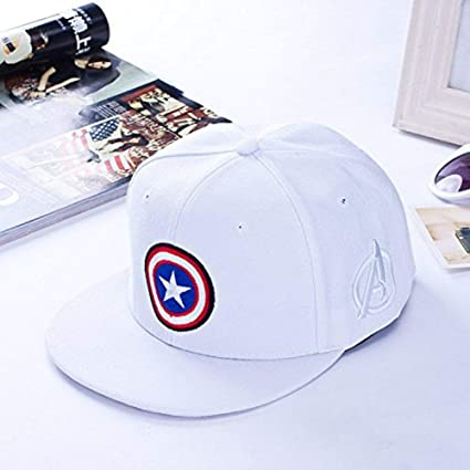 Buy Others Captain America Superhero Baseball Sports Gorras Snapback  Polyester Unisex Cap (White) Online at Low Prices in India - Amazon.in 575687d270b