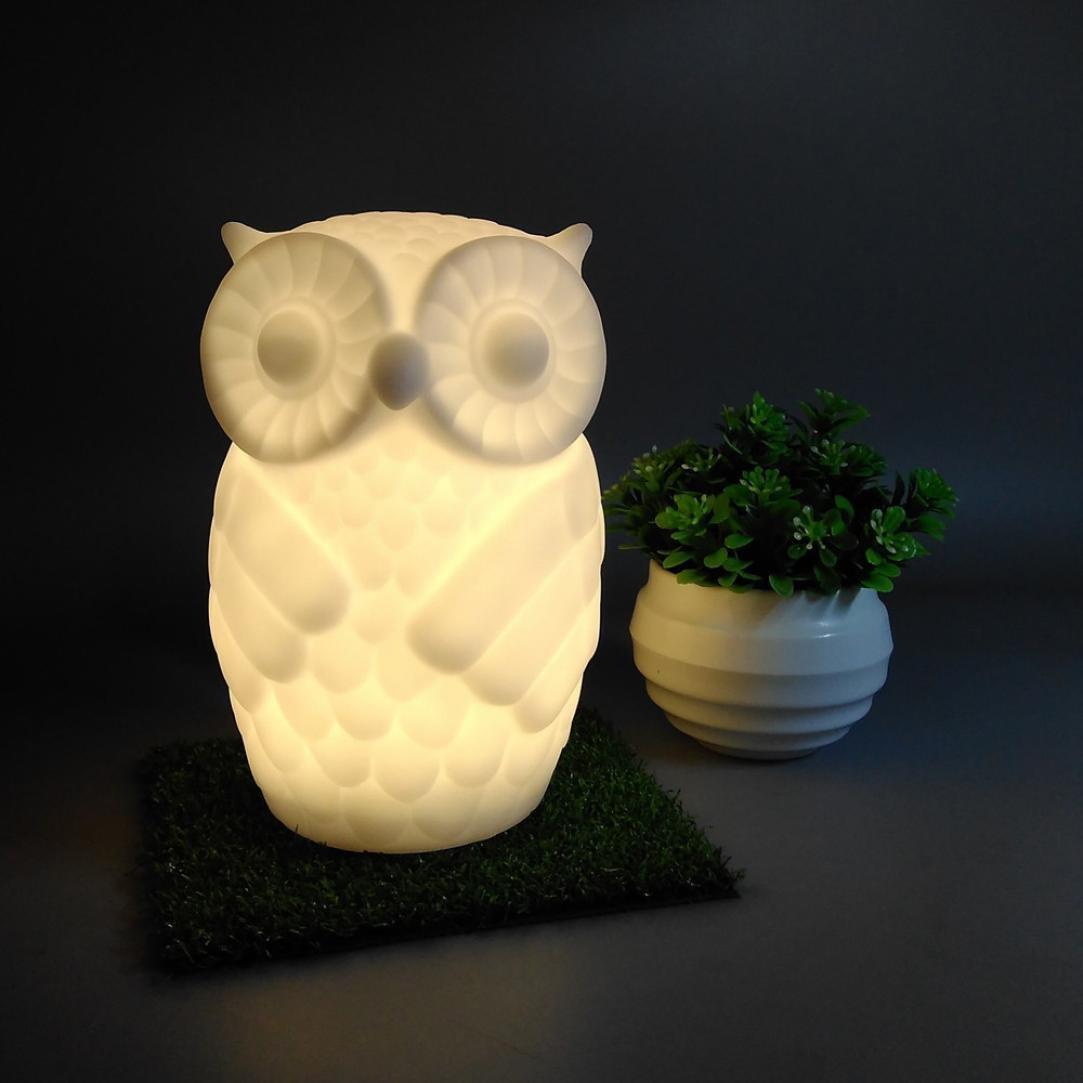 Baby Night Light, Sacow Cute Owl LED Night Light Nursery Bedroom Decors Lamp Animal Light Table Lamp (Warm White) by Sacow