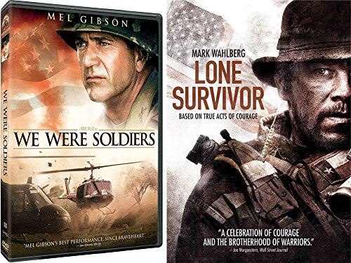 Lone Survivor True Story & We Were Soldiers Courage Movie Bundle Set