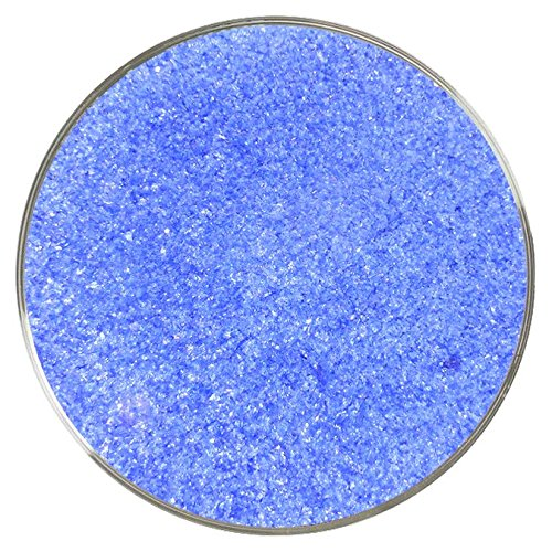 Iridescent Spectrum Stained Glass (Dark Blue Iridescent Fine Frit - 96COE - 4oz - Made from System 96 Glass)