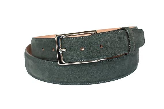 Leder-Gürtel für Herren in grün  aus 100% Veloursleder, hergestellt in  Handarbeit, ideal als Jeans-Gürtel, Anzug-Gürtel - Vollleder Hosen-Gürtel   Amazon.de  ... a13d083737