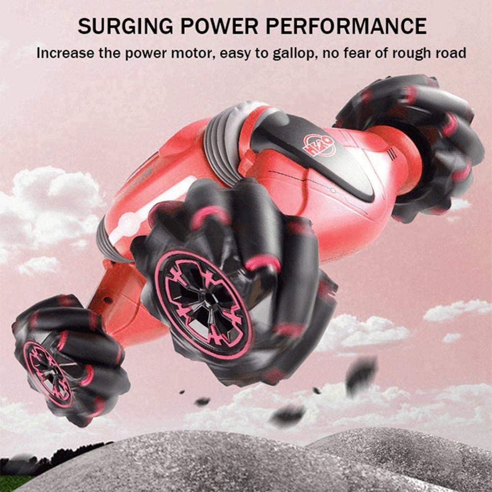 45 Minutes Standby Suitable for Any Terrain Blue 2.4GHz Gesture Sensing Remote Control Stunt Car Wall Climbing Car 360/° Rotating Rechargeable Toy Car with 4-Wheel Drive Kids Gift Umiwe RC Car