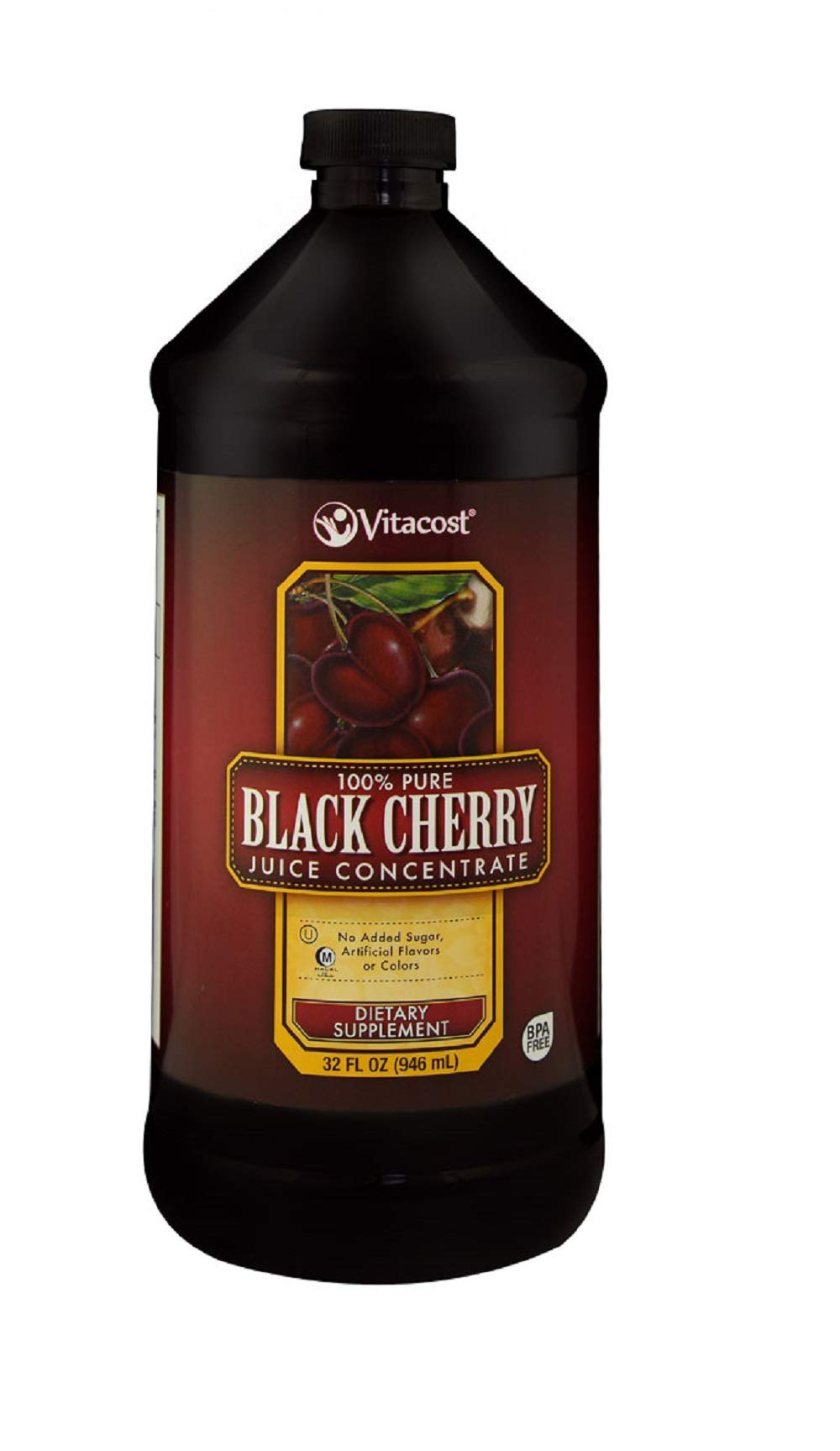 Vitacost 100% Pure Black Cherry Juice Concentrate -- 32 fl oz
