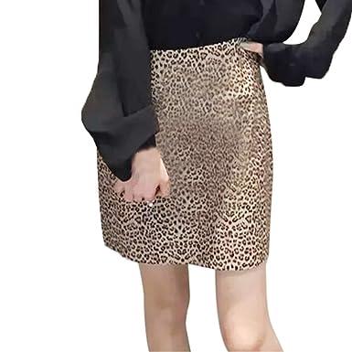MeiYao Leopard Mini Dress Women s Sexy Business Bust Skirt at Amazon ... 8db505b88