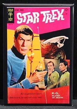 Star Trek Mirror Mirror FRIDGE MAGNET Captain Kirk Spock Enterprise C25