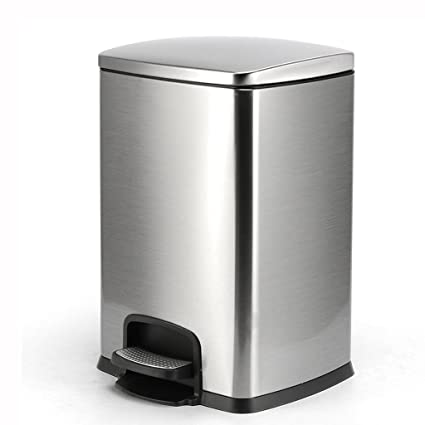 Amazon.com: Waste Bins, Large Square Household Pedal ...