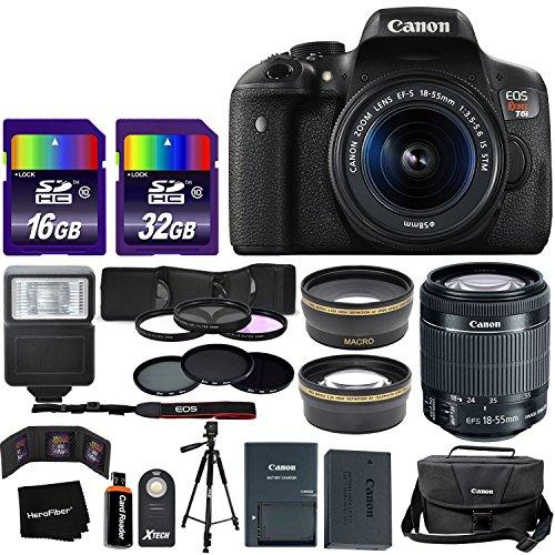 Canon EOS Rebel T6i Digital SLR Camera International Version