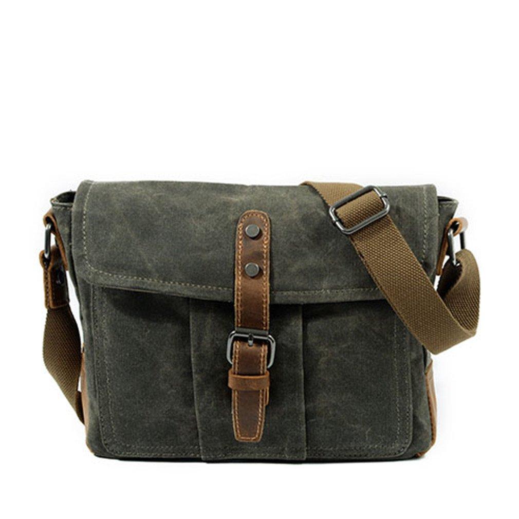 28623d94ca14 Amazon.com  MCNFJD Mens Messenger Bag National Vintage Man Casual Canvas  Shoulder Bag Simple Waterproof Crossbody Bags Coffee  Sports   Outdoors