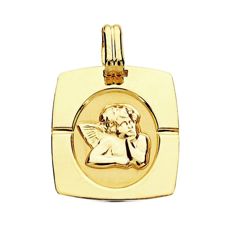 e1050d2f8 Colgante oro 9k marco angelito 20mm.  AB3210GR  - Personalizable -  GRABACIÓN INCLUIDA EN