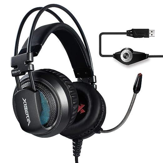 XIBERIA V10 PS4 PC Gaming Cuffie 7.1 Audio Circondare Cancellazione del  rumore Over-Ear Auricolari 9e82f7cba41e