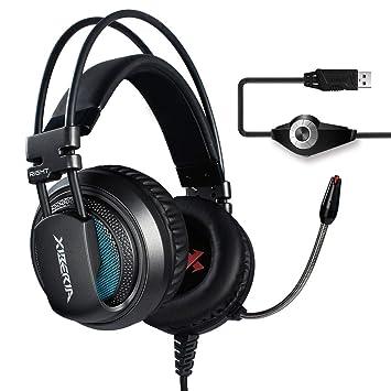 XIBERIA V10 Auriculares Gaming USB de Sonido Envolvente Cascos ...